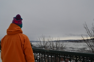 Chris looking out over the St. Lawrence