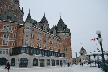 The promenade along the Chateau Frontenac